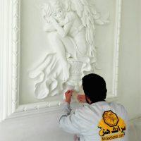 آموزش گچبری برجسته فرشته بالدار
